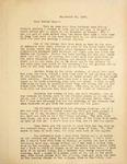 Levi Pennington Writing to Bertha May, September 25, 1946