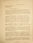 Levi Pennington Writing to Mr. Weatherford Jr., September 28, 1946