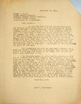 Levi Pennington Writing to Sumner Mills, September 29, 1946