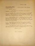 Levi Pennington Writing to Stout Teachers Agency, October 2,1946