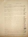Levi Pennington Writing to Lura Miles, October 11, 1946