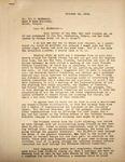 Levi Pennington Writing to Lrl McSherry, October 12, 1946