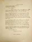 Levi Pennington Writing to the American Friends Service Committee, October 16, 1946