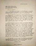 Levi Pennington Writing to Henry Leiper, October 29, 1946