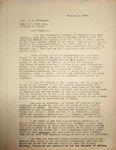 Levi Pennington Writing to Rev. Handsaker, January 3, 1947