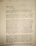 Levi Pennington Writing to Abijah Weaver, January 7, 1947