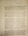 Levi Pennington Writing to Lester Haworth, January 7, 1947
