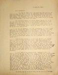 Levi Pennington Writing to Harold Byrd, January 9, 1947