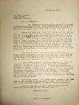 Levi Pennington Writing to Dr. Peter Odegard, January, 24, 1947