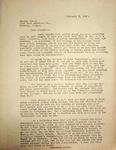 Levi Pennington Writing to George Moore, February 8, 1947