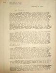 Levi Pennington Writing to Lura Miles, February 14, 1947