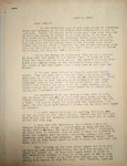 Levi Pennington Writing to Mary, April 4, 1947