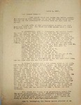 Levi Pennington Writing to Parker, April 4, 1947