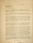 Levi Pennington Writing to Mrs. Ross, April 17, 1947