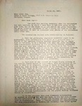 Levi Pennington Writing to Adena Joy, March 14, 1947
