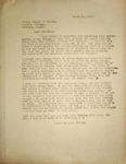 Levi Pennington Writing to Emmett Gulley, March 21, 1947