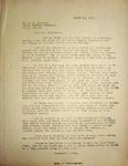 Levi Pennington Writing to R.H. Baldock, March 28, 1947