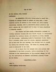Pennington to Newberg City Council, May 14, 1947