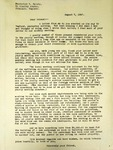 Pennington to Frederick Sainty, August 7, 1947