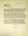 Pennington to Wayne Morse, August 7, 1947