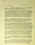 Pennington to Reverend J.P. Pennington, August 11, 1947
