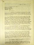 Pennington to Reverend Handsaker, August 15, 1947
