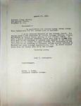 Pennington to The Eastern Clergy Bureau, August 27, 1947