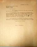 Pennington to Gervas Carey, November, 14, 1947