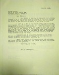 Pennington to George Clauss, July 10, 1965