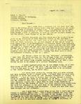Levi Pennington to Errol Eliott, August 10, 1965