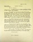 Levi Pennington To Reed College, August 16, 1965