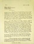 Levi Pennington To Errol Eliott, August 22, 1965