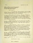 Levi Pennington To John Sullivan, September 23, 1965