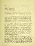 Levi Pennington To Errol Elliott, September 25, 1965