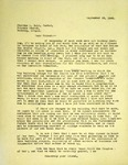 Levi Pennington To Pastor Charles Ball, September 28, 1965