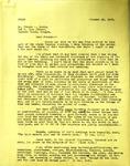 Levi Pennington To Dr Claude Lewis, October 22, 1965