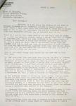 Levi Pennington To Errol T Elliott, March 8, 1957