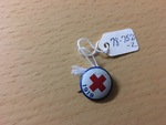 Red Cross Lapel Pin by George Fox University Archives