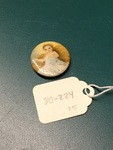 Baby Jesus Lapel Pin by George Fox University Archives