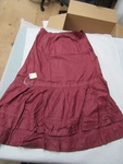 Maroon Satin Tiered Skirt by George Fox University Archives