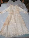 Girls' White Cotton Dress