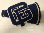 GFU Cheer Sweater Patch by George Fox University Archives
