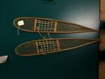 Miniature wooden snow shoes
