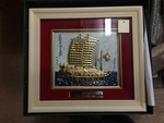 Framed Ship Painting by George Fox University Archives