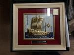Framed Ship Painting