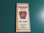 Pennsylvania Railroad Timetable Pamphlet by George Fox University Archives