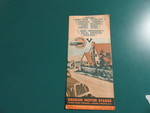 Oregon Motor Stages Pamphlet by George Fox University Archives