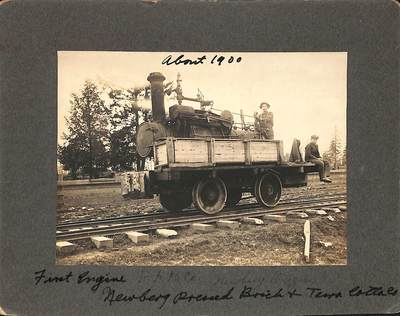 First Engine of the Newberg Brick and Tile Company