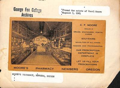Moore's Pharmacy Advertisement