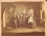 Family Portrait of Unknown Family by George Fox University Archives